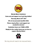 Mostly Mutts Fundraiser