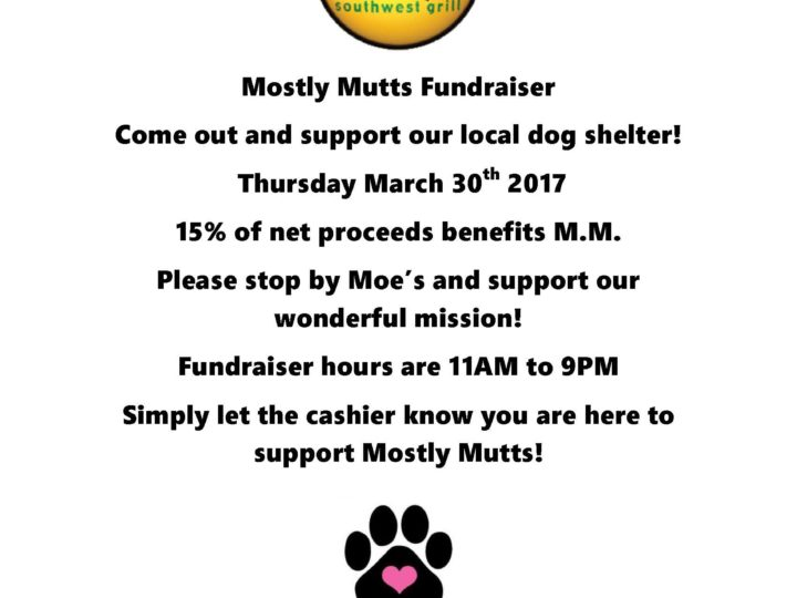 Moe's Fundraising Event